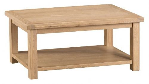 Oxford Oak Coffee Table With Shelf
